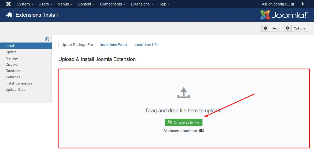 Installation Facebook Feed Pro on Joomla website
